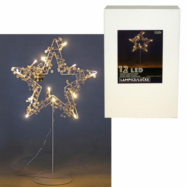 Zvezda s LED svetlima, 12L bel ( 52-573000 )
