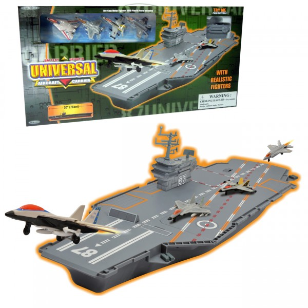 Aircraft carrier w 4 metal fig ( 63-212000 )