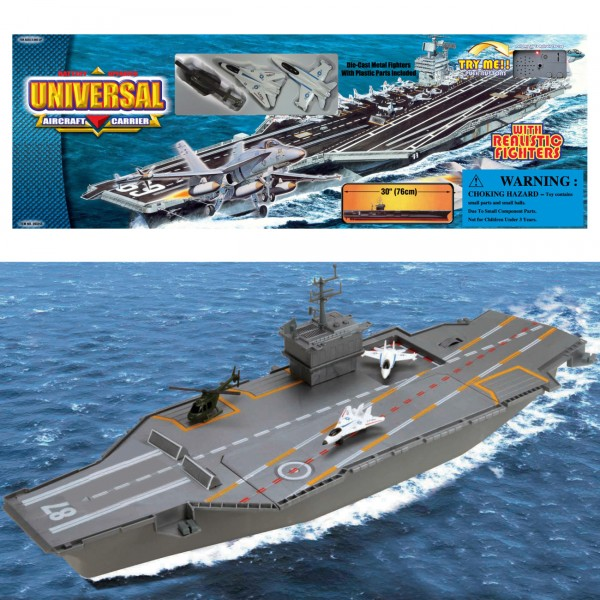 Aircraft carrier w 3 metal fig ( 63-211000 )