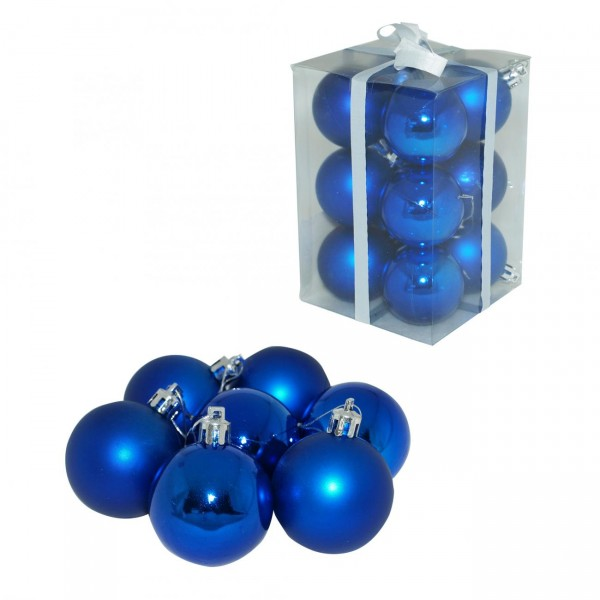 Kuglice 5 cm 12 kom plave