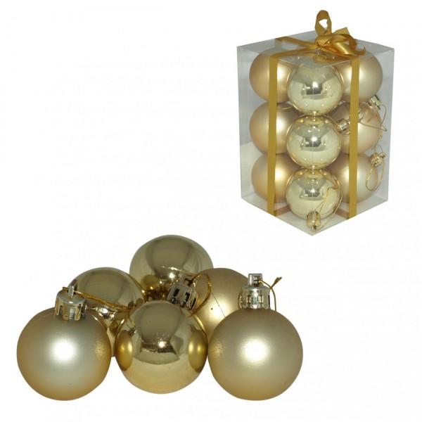Kuglice 5cm 12 kom zlatne ( 51-302000 )