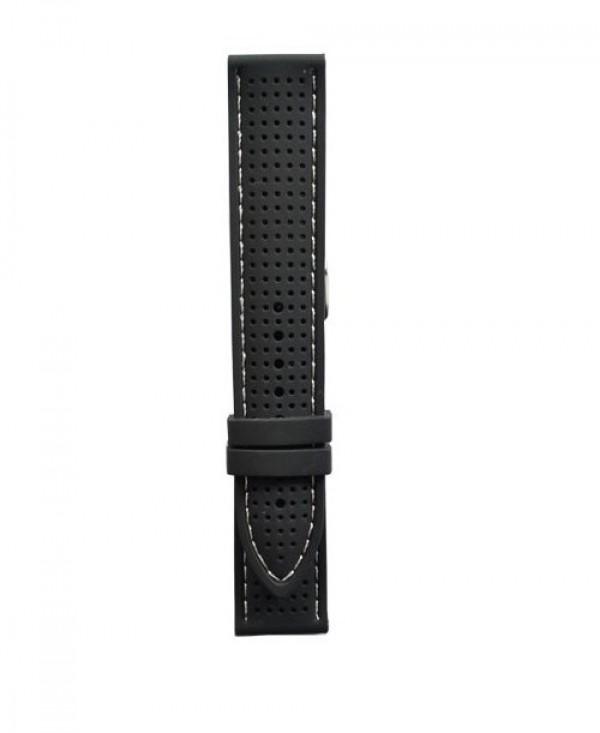 Silikonski kais - SK67 Crna boja/Beli step 22mm