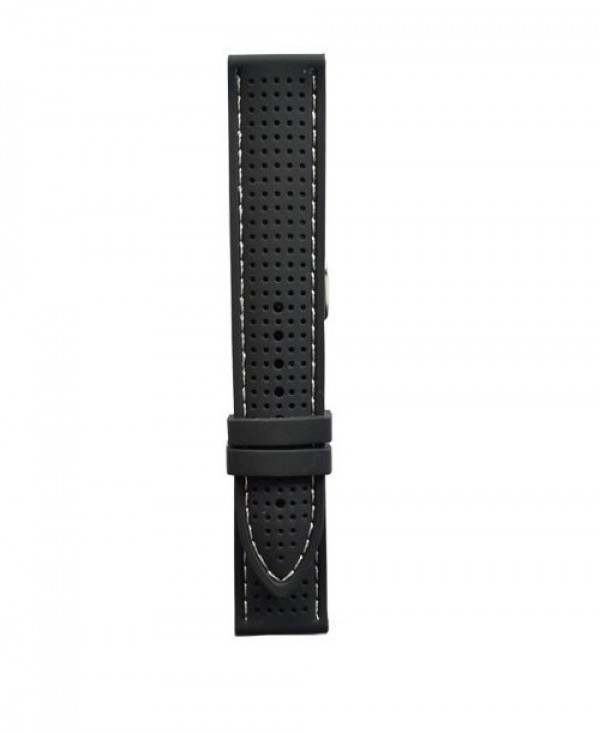 Silikonski kais - SK68 Crna boja/beli step 24mm