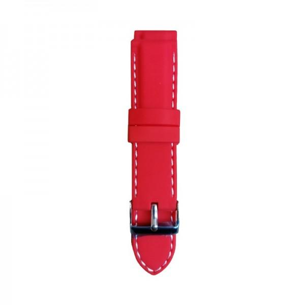 Silikonski kaiš - SK23 Crvena boja 22mm