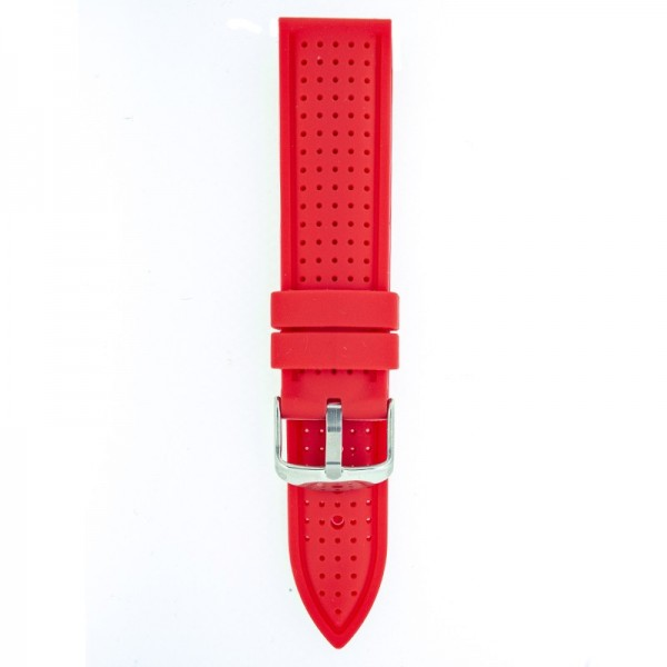 Silikonski kaiš - SK33 Crvena boja 22mm