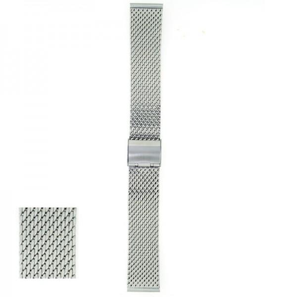 Metalni kaiš - MK45 Srebrni 20mm