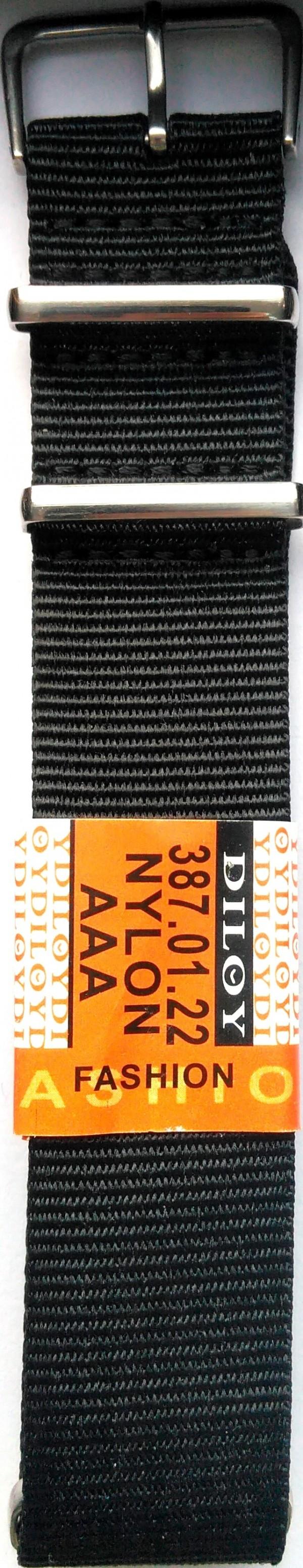 Platneni kaiš Diloy DIL387.1 (boja Crna)