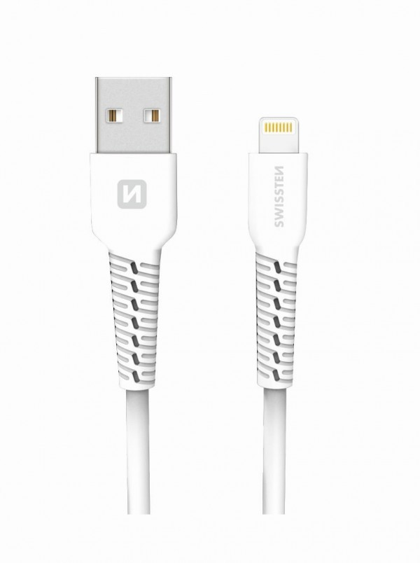 SWISSTEN USB Data Cable 1m Lightning (Bela)