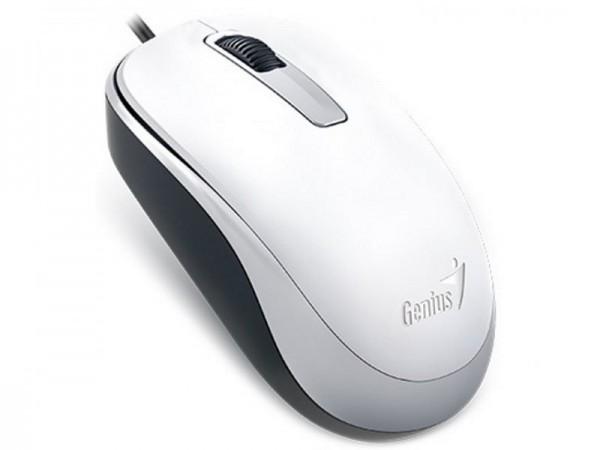GENIUS DX-125 žični miš Optički, 1000dpi, Simetričan, Bela