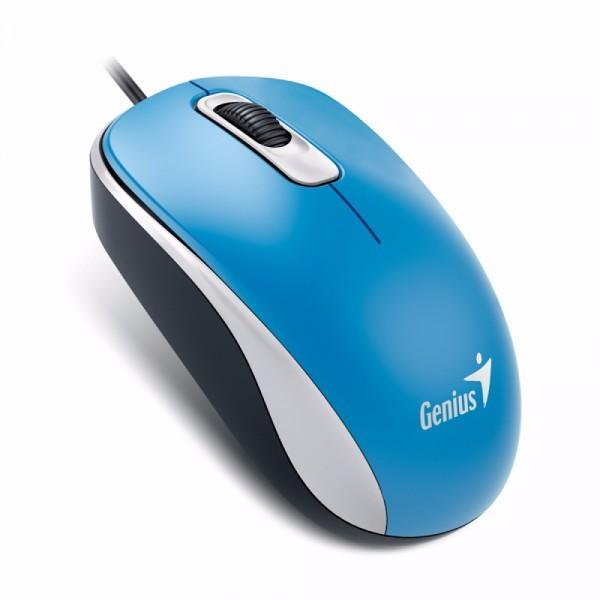 GENIUS žični miš DX-110 (Plavi) - 31010116103 Optički, 1000dpi, Simetričan