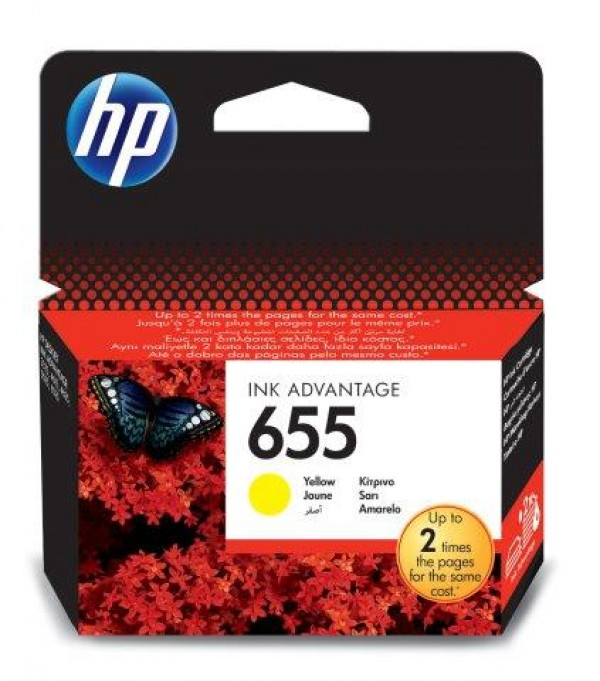 HP 655 Yellow Ink Cart.[CZ112AE] HP Deskjet Ink Advantage 3525, 4615, 4625, 5525, 6525 e-All-in-One