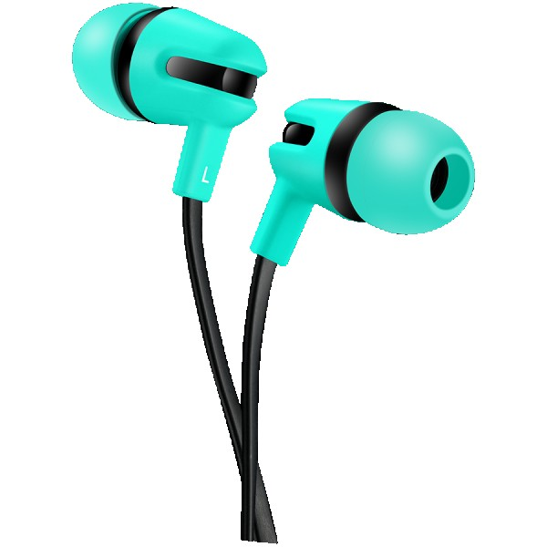 CANYON Stereo earphone with microphone, 1.2m flat cable, Green, 22*12*12mm, 0.013kg ( CNS-CEP4G )