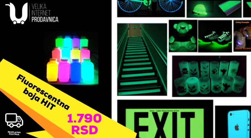 Akrilna višenamenska fluorescentna boja 5 boja